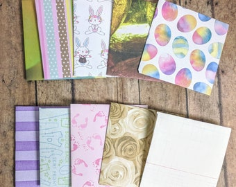 10 assorted mini envelopes