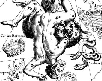 Constellation print, Zodiac signs, Astronomy, 94