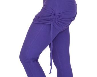 Womens Yoga leggings with adjustable skirt, Ruched Leggings - ROCKSTAR LEGGINGS - festival and dance clothes