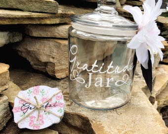 Gratitude Jar, Mother's Day Gift, Gift for Mom, Gratitude Jar Kit, Blessing Jar, Memory Jar, Happiness Jar, Gratitude Cards