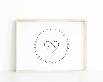Minimalist branding kit design, Gold business premade logo, Photography logo, Modern logo design, Heart logo, blog logo, Branding package