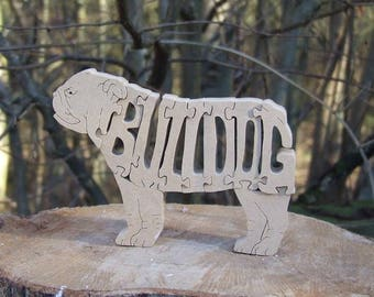 English Bulldog, English Bulldog gift, Bulldog jigsaw, Bulldog puzzle, Bulldog ornament, Bulldog gift, gift for him, gift for her