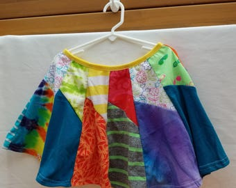 Upcycled Skirt Size 5 - Bright