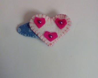 heart hair clip Barrette