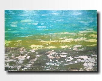 large abstract painting original art blue and gray jmjartstudio gift for him