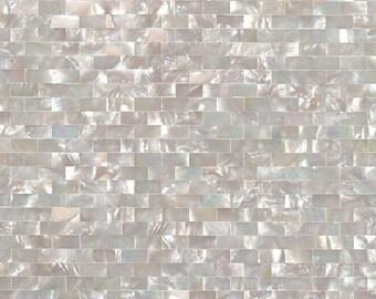 Deep sea shell mosaic kitchen backsplash tile MOP033 Groutless Subway pearl shell tiles bathroom shower wall mosaic tile