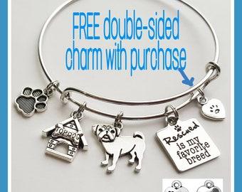 Customizable Dog Charm Breed Bracelet