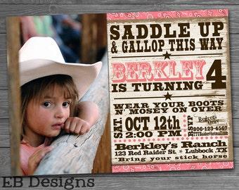 Cowgirl Invitation