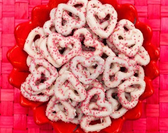 Valentine's day or any occasion.   Chocolate covered pretzels!  3 dozen in the order