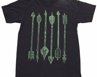 Mens ARCHERY green arrow Tshirt - xs s m l xl xxl