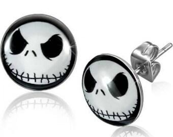 Nightmare Before Christmas Earrings! Jack Skellington's Face