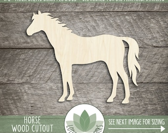 Wooden horse etsy wood horse shape blank wood cutouts wooden horse cutout unfinished wood shapes for solutioingenieria Choice Image