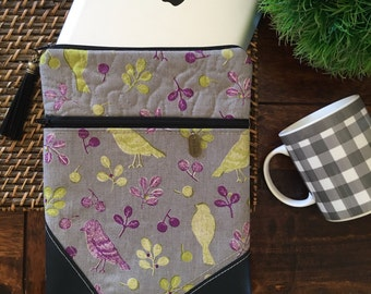 Linen Bird Tablet/iPad Sleeve