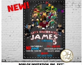 Roblox Invitationroblox BirthdayRoblox InviteRoblox Birthday Invitation RobloxRoblox Party PrintableRoblox PrintableROBLOX