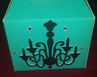 Chandelier Gable Treat Boxes
