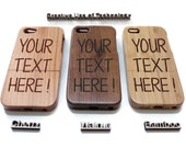 wooden iphone 5 case / iphone 5S case wood - wood iphone 5 case bamboo, cherry or walnut wood - Custom text / personalized design
