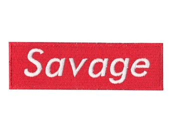 Savage Motif Iron-On Applique Embroidered Patch