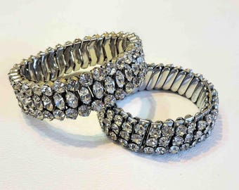 Vintage Rhinestone Crystal Adjustable Bracelets