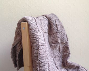 Baby blanket, very soft and warm cashmere and wool 50/50