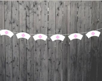 Nurse Banner, Nurse Hat Banner, Nurse Garland, RN Banner, RN Garland, Medical School, Hospital, Party Decorations