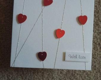 With Love Handmade Greetings Card