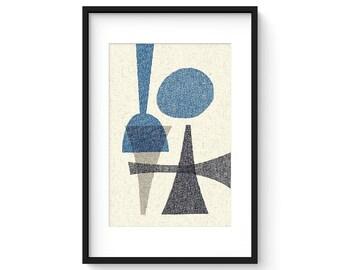 OFFSET no.14 - Giclee Print - Mid Century Modern Contemporary Modern Abstract Modernist Art