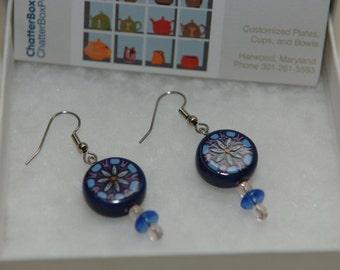 Blue Flower earrings J7