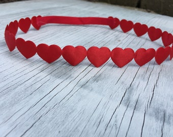 Red Heart Halo Headband // Pink Heart Halo Headband // Red Heart Headband // Newborn Headband // Halo Heart Headband // Valentines Headband