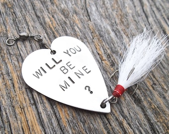 READY TO SHIP Will You Be Mine Unique Marriage Proposal Idea Fishing Lure Men Wedding Proposal Idea Fiance Asking Someone To Marry You Guys