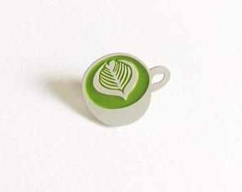 Matcha Latte Enamel Pin