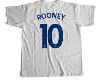 Rooney T-Shirt Jersey 2017-18 White Kit Tee