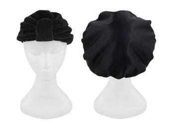 NEW Black Microfibre Drying Shower Cap Accessory Gift Bundle Travel Accessories Pack One Size Fits All