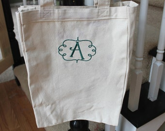 Monogrammed Canvas Tote Bag, Personalized Canvas Tote, Tote Bag, Canvas Tote Bag, Personalized Shopping Bag