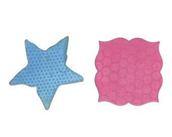 NEW LOW PRICE: Sizzix Movers & Shapers Magnetic Die Set 2Pk - Label and Starfish  660357