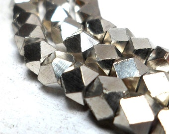 Silver Spacers - Faceted Metal Beads 4.5mm (10)
