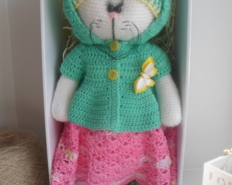 knitted toys/cat toy/handmade toy/cat/cat doll/The cat is knitted/The toy is amigurumi/kot tilda/toy tilde/crocheted crochet/cat lover gift