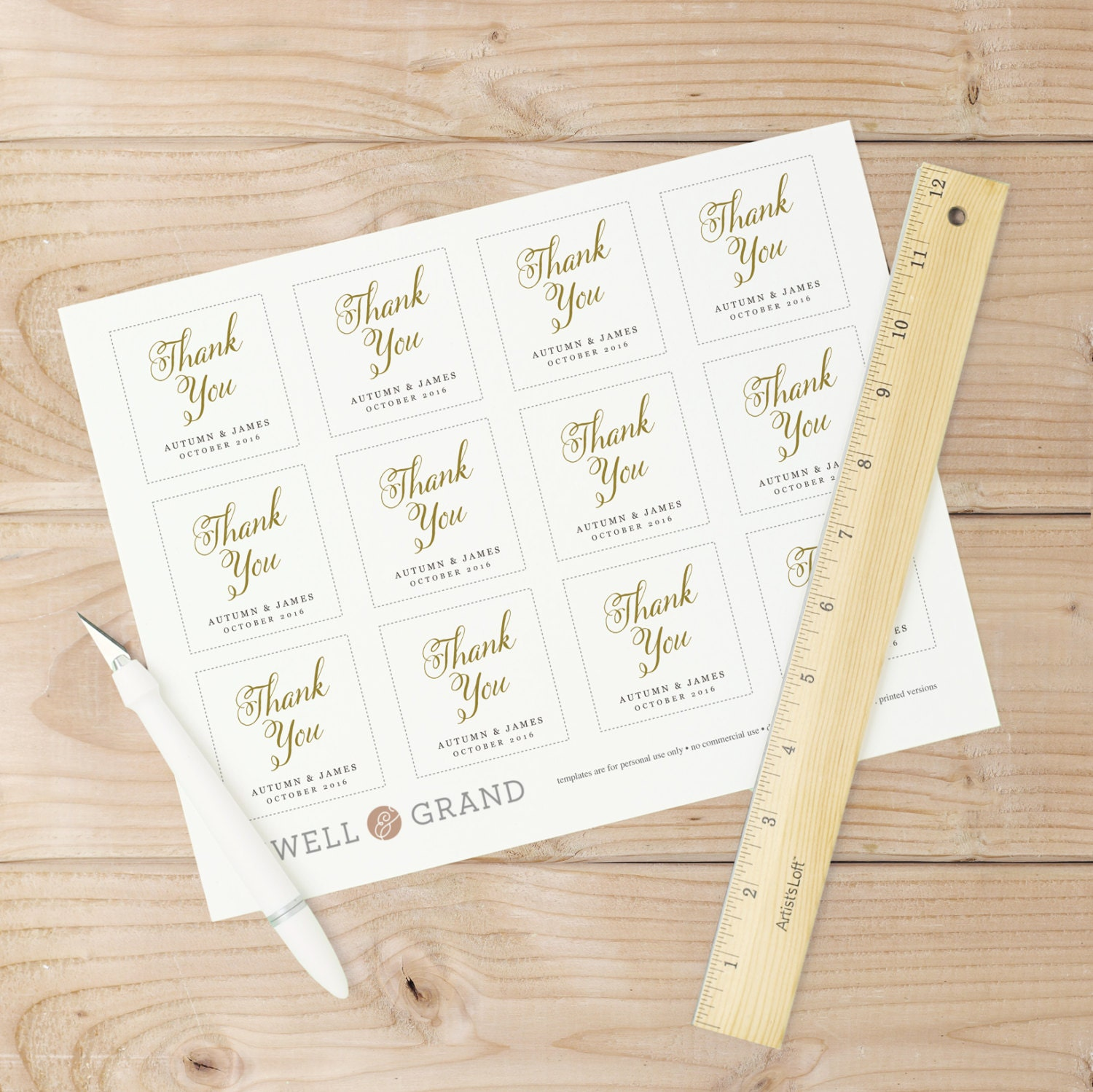 Printable Wedding Favor Tags, Favor Tag Template, Romantic Script ...