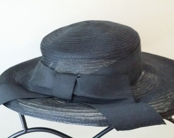Black Sunhat with Bow
