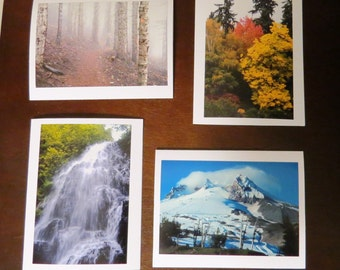 Fine Art LANDSCAPE Photo Greeting Cards, Handmade Stationery Photography Note Cards; NATURE Waterfall Mountain Trees; wall art home decor