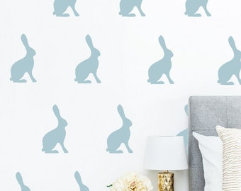 "6"" Vintage Jack Rabbit Wall Decals"