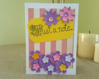 Handmade Greeting Card * Just a Note Card