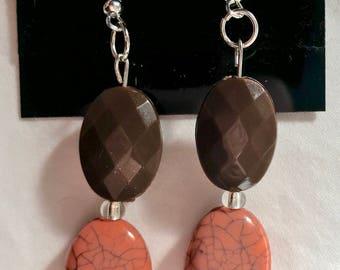 Brown Coral Earrings