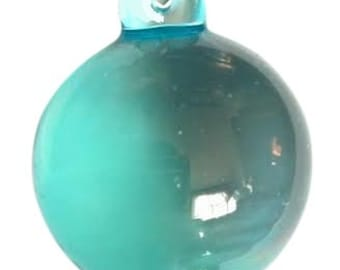 Chandelier Crystals SMOOTH 30mm Ball Crystal Prism Ornament Chandelier Antique Green Light Aqua