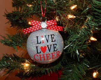 Love to Cheer Ornament-Can be Customized!