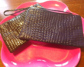 Brand New check book holder purse lot (2) one black one blue