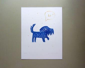 Winter dog Greeting card