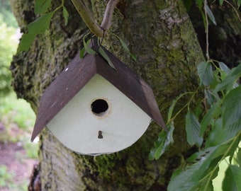 Wren House Birdhouse Reclaimed wood Amish made Made in USA new White