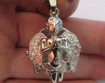 bola cage, pregnancy bola, silver cage, for pregnancy necklace
