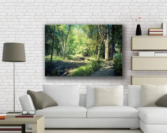 Forest Decor, Forest Photography, Forest Art, Woods, Large Wall Art Print, Trees in Woods, Rustic, Nature Walk, Relax, Nature, Nature Stroll