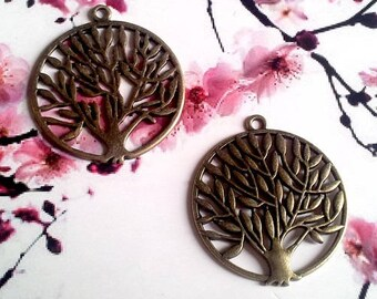 14 pendants, charms, tree of life, ideals for BO 36x42mm